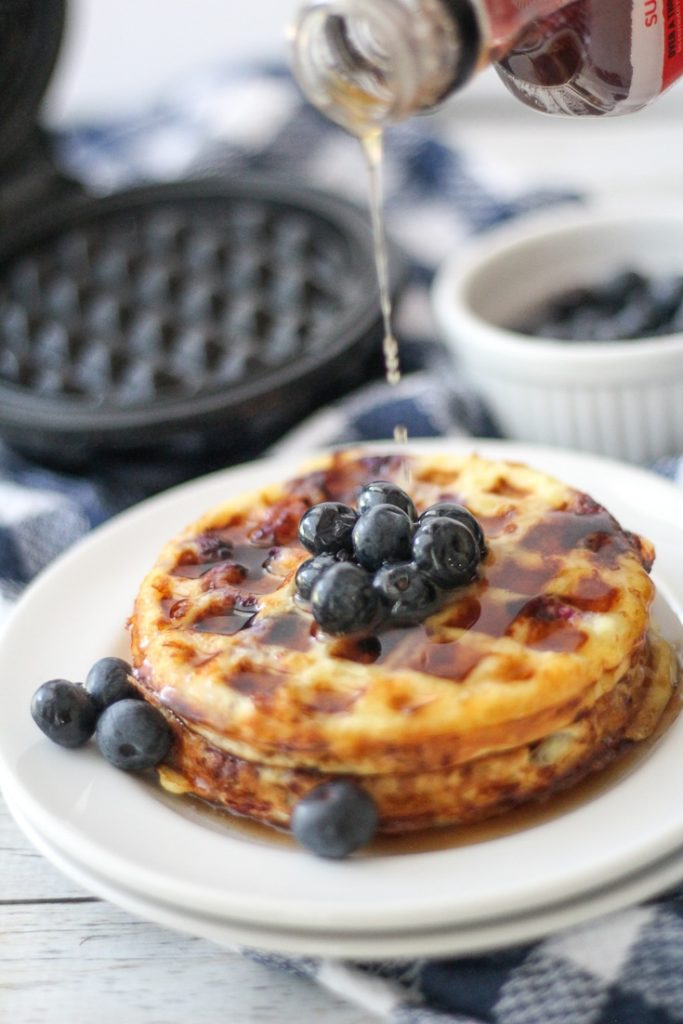 Keto Chaffle with Blueberry