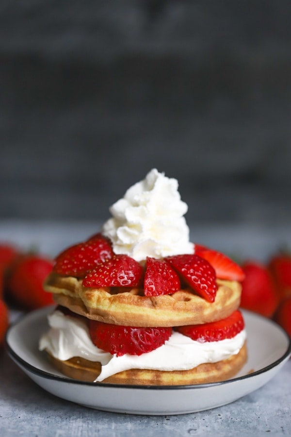 Keto Chaffle with Strawberry